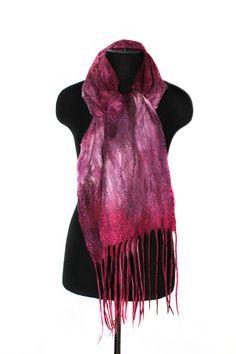 Bufanda de fieltro hecho a mano Moda invierno accesorio OOAK