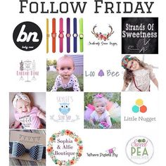 Follow Friday Listed below are some FANTASTIC Reps that love what they do AND some AMAZING shops that offer a ton of great things!! Go check them all out show them some love & give them a follow!! After all it is Follow Friday!!  . . @quinnleexo @littlenuggetco  @londonroseco @javi.emilia.smiles @team_hip_sibs @sophia_and_alfie_boutique @bugletus @muffintopsandtutus @sweetpeastitches84 @looandbee @southernlygrace @littlenuggetco @strandsofsweetness @claire.naomi.love  @baby.n.e.w…