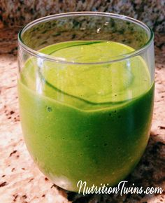Detoxifying Green Tea Smoothie | Only 121 Calories | Flushes Bloat & Helps Liver Flush Toxins & Prevent Damage | For MORE RECIPES please SIGN UP for our FREE NEWSLETTER www.NutritionTwins.com