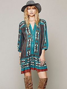 Free People Bow & Arrow Henley Dress at Free People Clothing Boutique
