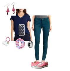 \u0026quot;How to wear Pink Flamingo Earings\u0026quot; by jillgaither on Polyvore featuring Lauren Ralph Lauren