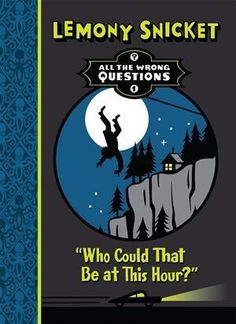 "In a fading town, far from anyone he knew or trusted, a young Lemony Snicket began his apprenticeship in an organization nobody knows about. ""Who Could That Be at This Hour?"" by Lemony Snicket is one of our Summer of Sleuths contest books for grades K through 8. Contest details at http://communications.bookshare.org/summercontest2014/. Image description: Book cover showing a house on a cliff, and a person falling."