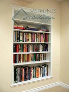 Cool built - in bookcase