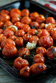 Roasted Tomatoes. #Recipe #Dinner