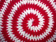 A close up of swirl blanket.