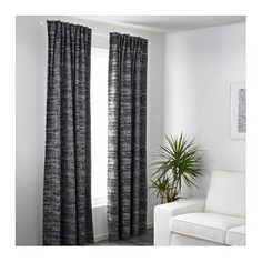 IKEA SOLIDASTER block-out curtains, 1 pair