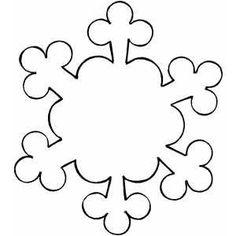 Use to make snowflake names - Ornament Snowflake coloring page