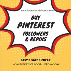 Increase your followers on Pinterest, Buy followers, repins to make your profile more professional and attractive