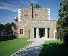 Aldo Rossi designed villa (for Alessandra and Stefano Alessi) on Lago Maggiore, Italy