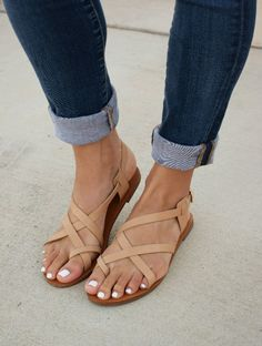 Stay a step ahead this season with these strappy sandals. Simple and affordable, these strappy Sandals in are a great style to start with for this spring and summer season. Perfect for everyday wear.