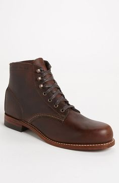 Wolverine '1000 Mile' Boot available at #Nordstrom   These boots are alleged to be so comfortable that your feet will remain fresh after wearing and walking in the for 1,000 miles.  I don't know about that, but they were pretty light when I tried a pair on last week,  They come in black, brown, rust and tan. . . . I dig the tan, myself,