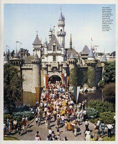 Sleeping Beauty Castle, Disneyland, 1960,  original color scheme.