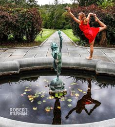 This composition took a lot of puzzle solving muscle as I wanted the statue to meet the path's horizon the yogini to be completely in the reflection and the pond to be perfectly symmetrical.  And the puzzle needed to be solved as quickly as possible while Megan Marie held a majestic natarajasana balancing on a rounded surface.  Although this image was created about 5 years ago I vividly remember every ounce of the ferocious concentration that went into it.  If you are interested in learning…