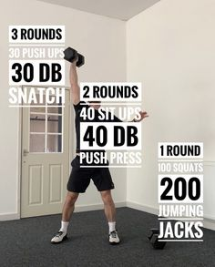 Crossfit Workouts At Home, Insanity Workout, Best Cardio Workout, Workout Ideas, Crossfit Workout Program, Workout Men, Dumbbell Workout, Workout Fitness, Sport Fitness