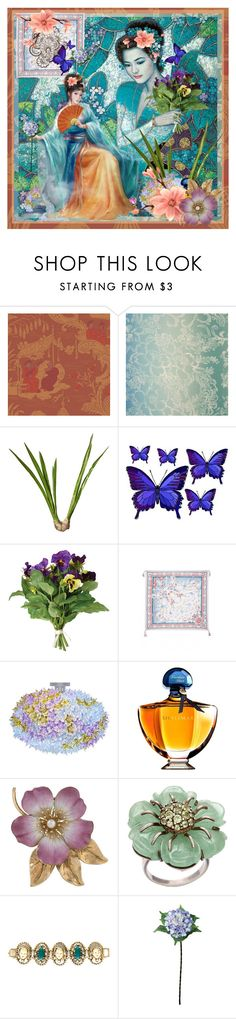 """""""My Oriental Passion"""" by beleev ❤ liked on Polyvore featuring Designers Guild, Karl Lagerfeld, OKA, Kartell, Guerlain, Paul Frank, Laura Cole and geisha"""