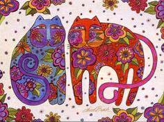 Amazon.com: A Celebration of Cats by Laurel Burch - 20 Greeting Cards with Full-color Interiors and Designed Envelopes: Office Products