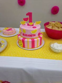 Pink lemonade first birthday cake Bake Me Happy www.bakemehappy.net Pink Lemonade Cake, First Birthday Cakes, No Bake Cake, First Birthdays, Party Ideas, Sun, Baking, Happy, Desserts