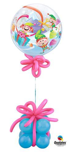 Giftbox balloon base. Elves balloon :-)