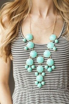 Stripes and bubble necklace.