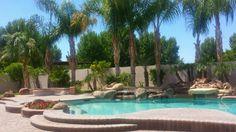 Beautiful backyard oasis in Chandler AZ.