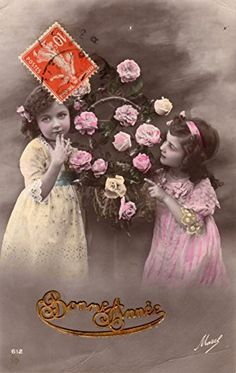 French antique postcard