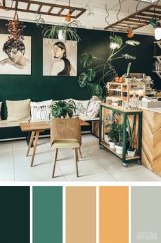 Green & Beige & Color Palette Inspiration & Color Inspiration For the Home & Paint Color Ideas & Wedding Colors Source by AmeliaEverlyDesigns Paint Color Schemes, House Color Schemes, Living Room Color Schemes, Interior Design Color Schemes, Apartment Color Schemes, Green Color Schemes, Decoration Palette, Beige Color Palette, Orange Color Palettes