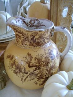 . . . Cabin & Cottage : Flea Finds & An Old English Transferware Jug