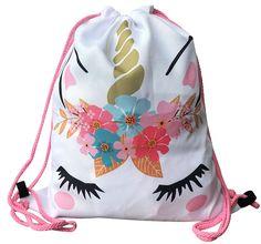 Unicorn Gifts for Girls - Unicorn Drawstring Backpack/Makeup Bag/Bracelet/Inspirational Necklace/Hair Ties Unicorn Outfit, Unicorn Clothes, Unicorn Makeup, Unicorn Hair, Unicorn Gifts, Cute Unicorn, Gifts For Girls, Girl Gifts, School Bags For Boys