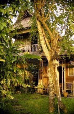 Bamboo hut Mansion #THAI #HOMES