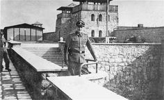 Franz Ziereis, Commandant of Mauthausen, August 1939 to May 1945.  He allowed his eleven year old son to shoot prisoners with a rifle from their front porch. Ziereis was wounded by Allied soldiers and subsequently died some time later from his wounds. 40,000 prisoners perished in the first four months of 1945.