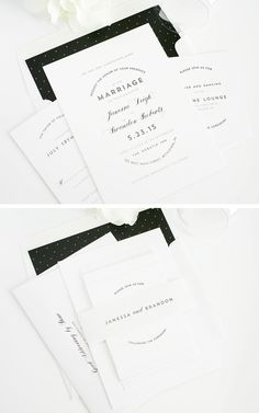 Modern Wedding Invitations in Black and White