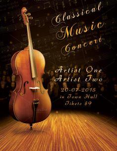 Classic Music Concert Flyer by Krukowski Graphics on @creativemarket