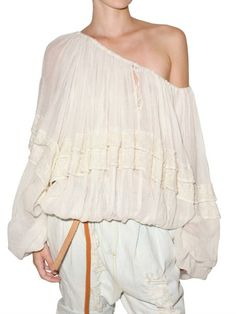 Mes Demoiselles White Cotton Gauze Shirt