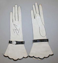 Gloves 1925, French, Made of leather