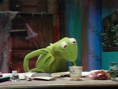 Miss Piggy, Hermit The Frog, Sapo Kermit, My Life Is Boring, Sapo Meme, Funny Comic Strips, The Muppet Show, Meme Template, Jim Henson