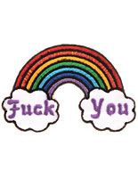 F*ck You Friendly Rainbow Iron-On Patch