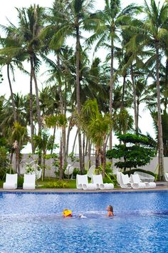 Pool fun at Movenpick Resort on the island of Boracay in the Philippines