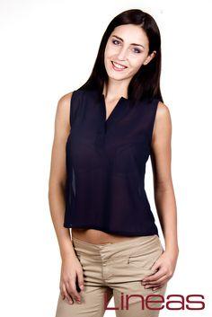 Blusa, Modelo 19710. Precio $170 MXN Pantalón, Modelo 18074. Precio $300 MXN #Lineas #outfit #moda #tendencias #2014 #ropa #prendas #estilo #primavera #outfit