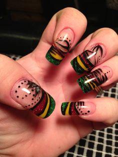 rasta nail design - Google Search