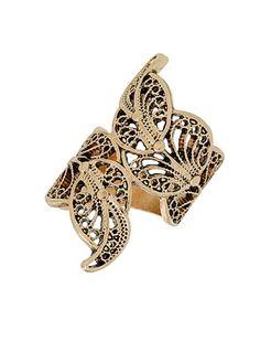 Leaf Filigree Wrap Ring