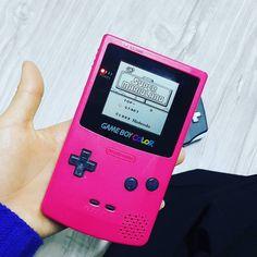 On instagram by pm0808 #gameboy #microhobbit (o) http://ift.tt/1oyWmOy . . #슈퍼마리오 #1989 #게임 #고전게임 #추억의게임 #게임보이 #꿀잼  color #pink #nintendo