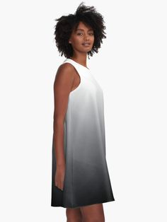 """Charcoal Ombre Pattern"" A-Line Dress by ind3finite   Redbubble Fashion Colours, Pink Fashion, Trendy Fashion, Women's Fashion, Sweat Shirt, Pantone, Pink A Line Dress, Presque Parfait, Mode Rose"