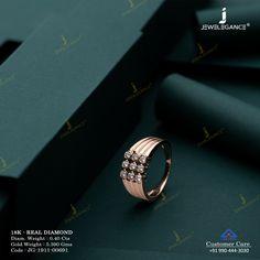 Real Diamond Ring jewellery for Men by jewelegance. ✔ Certified Hallmark Premium Gold Jewellery At Best Price Mens Gold Rings, Gold Rings Jewelry, Antique Jewelry, Rings For Men, Ruby Ring Designs, Diamond Rings, Diamond Jewelry, Ring Boy, Gents Ring