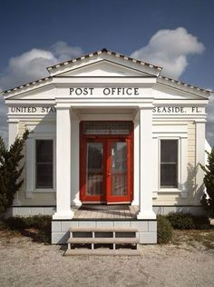 Seaside, Florida Post Office.  Seaside is one of the most beautiful beach areas and a perfect place to relax.