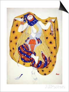 Costume Design for a Dancer in 'Scheherazade', a Ballet First Produced by Diaghilev Magnetic Art -vedos