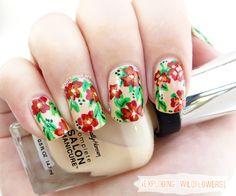 Manicure Monday: Exploding Wildflowers beauty-junkie.net