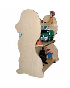 #Mobile Double Sided #Bookcase #Lion #Natural Maple#reading#books#boy room#nursery furniture#