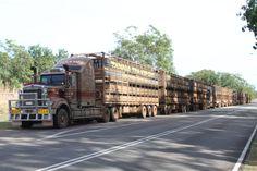 Road Train on the Stuart Highway Australia