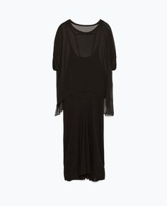 Image 6 of DOUBLE LAYER GATHERED DRESS from Zara