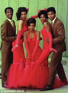 The original (1976) cast of the movie SPARKLE:Dorian Harewood, Lonette McKee, Irene Cara, Dwan Smith and Phillip Michael Thomas.
